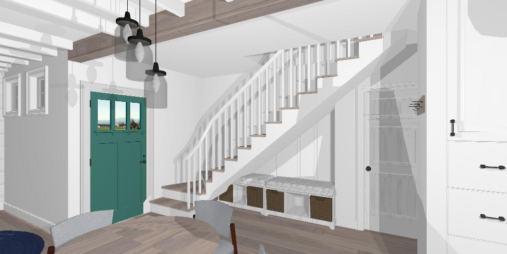Whidbey Staircase @jessicawellinginteriors.com