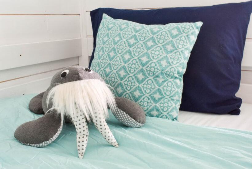 Beach House Bunk Room Reveal @jessicawellinginteriors.com, walrus, bunk beds