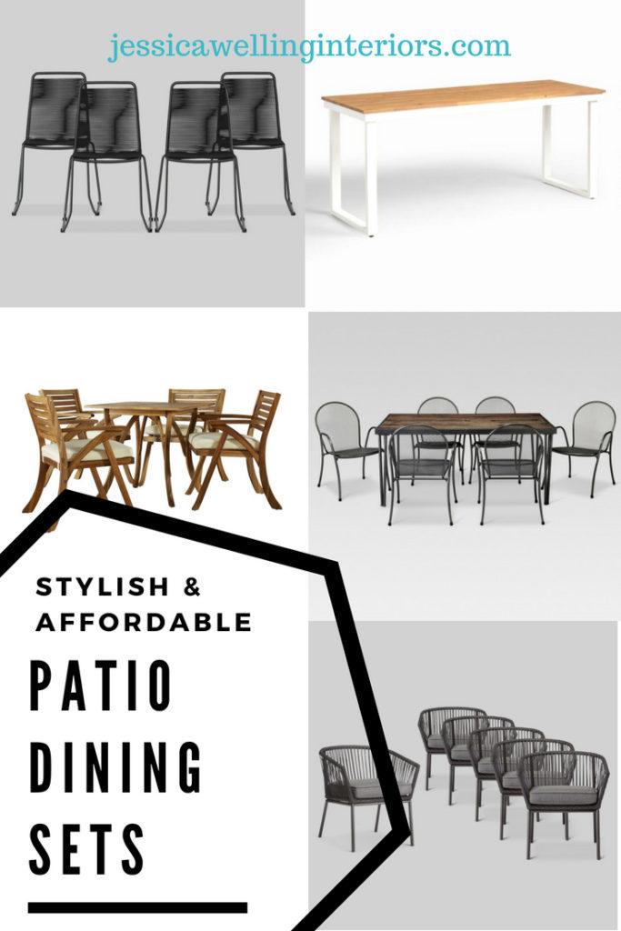 Stylish & Affordable Patio Dining Sets @jessicawellinginteriors.com