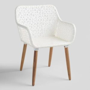Antique White Avignon Outdoor Dining Chair @jessicawellinginteriors.com