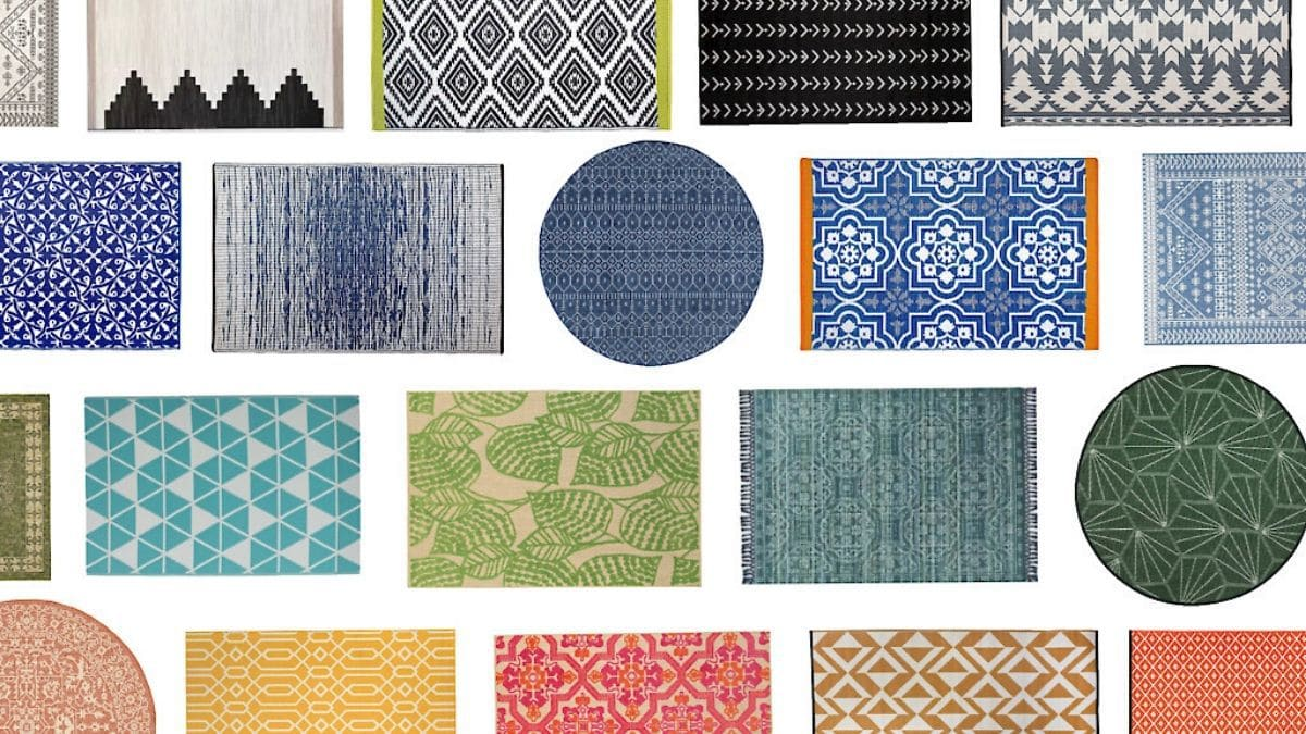 70 Outdoor Rugs Under $150: Colorful, Modern, & Stylish!