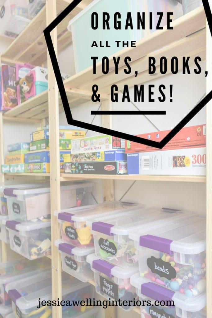 photo of organized toy closet
