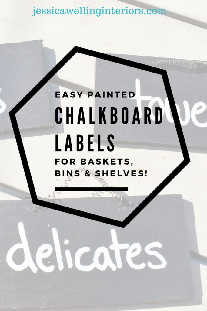photo of pantry with painted chalkboard label