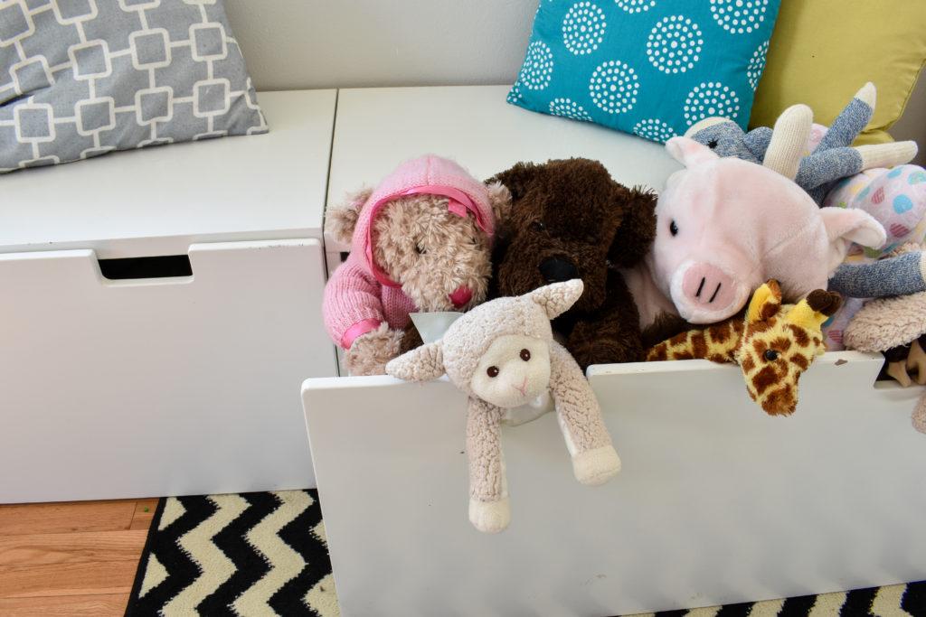photo of stuva drawer with stuffed animals