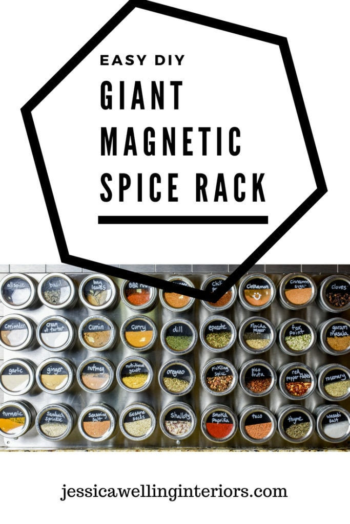 photo of magnetic spice rack
