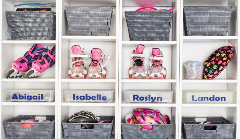 Simple Entry Cubbies! A Brilliant IKEA Hack for Back-To-School