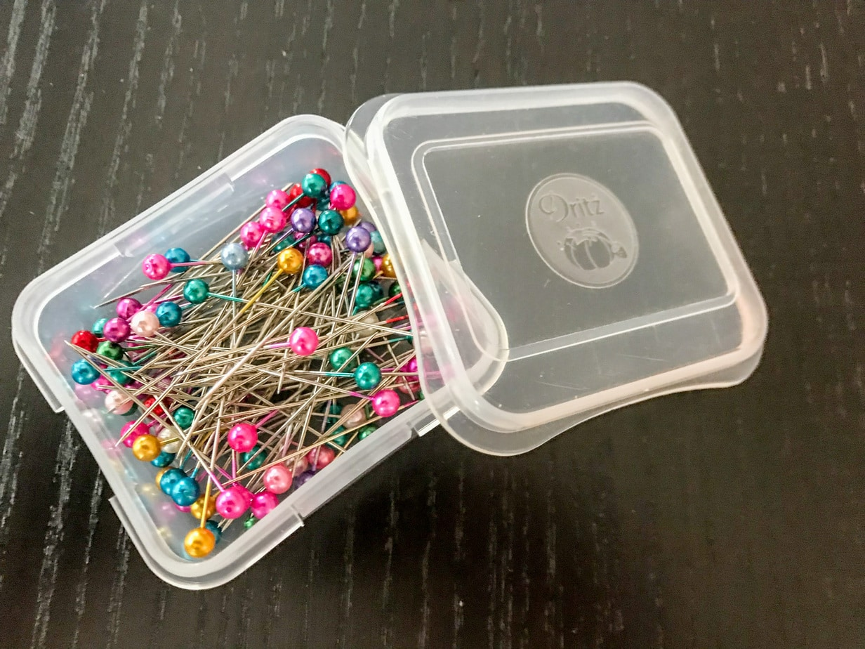 photo of sewing pins