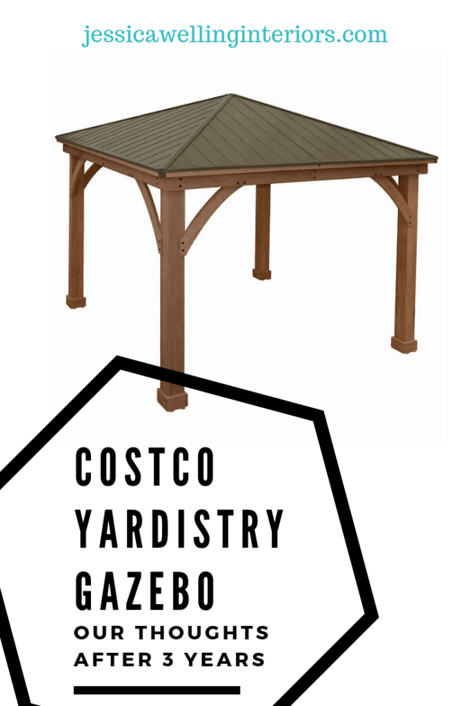 Costco Gazebo: Our Thoughts After 3 Years cedar gazebo with white background