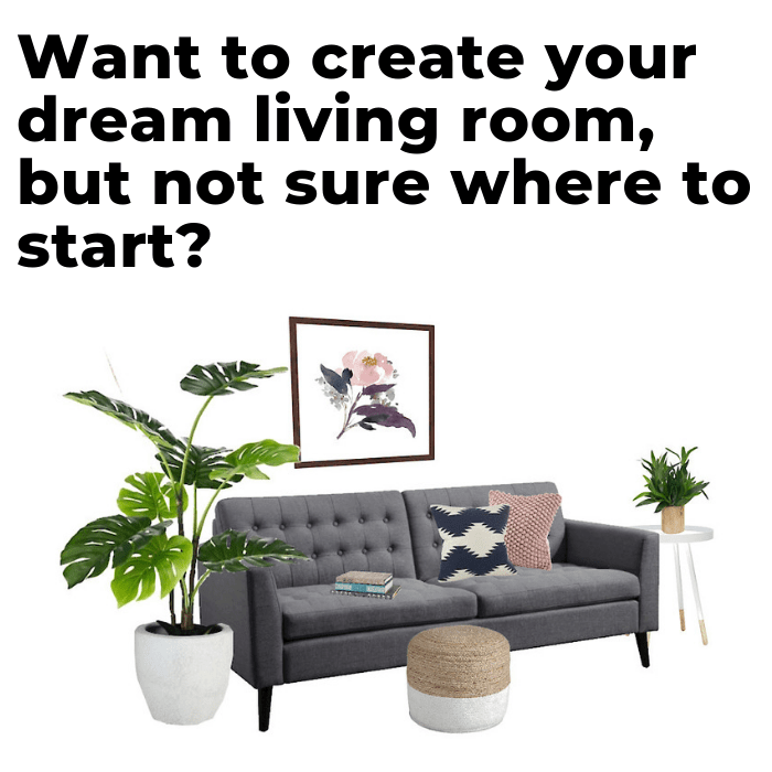 Ready to decorate your living room yourself? Get this FREE DIY living room decor guide to learn the process the pros use to design beautiful living rooms and family rooms. It covers everything from paint colors to furniture, to rugs, and much more