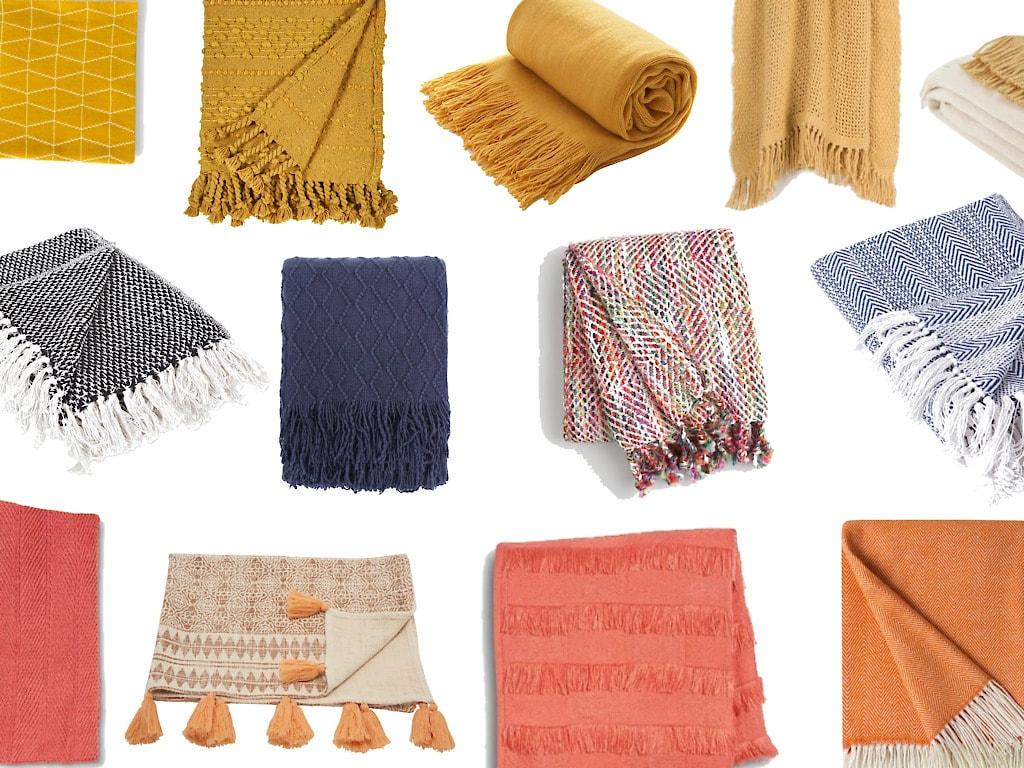 Modern Fall Throw Blankets