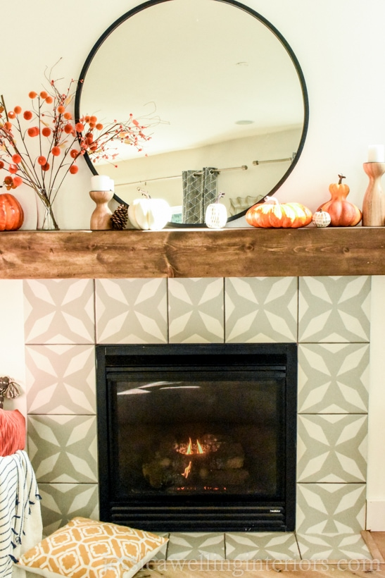 Modern Fall Mantle Decor Jessica Welling Interiors