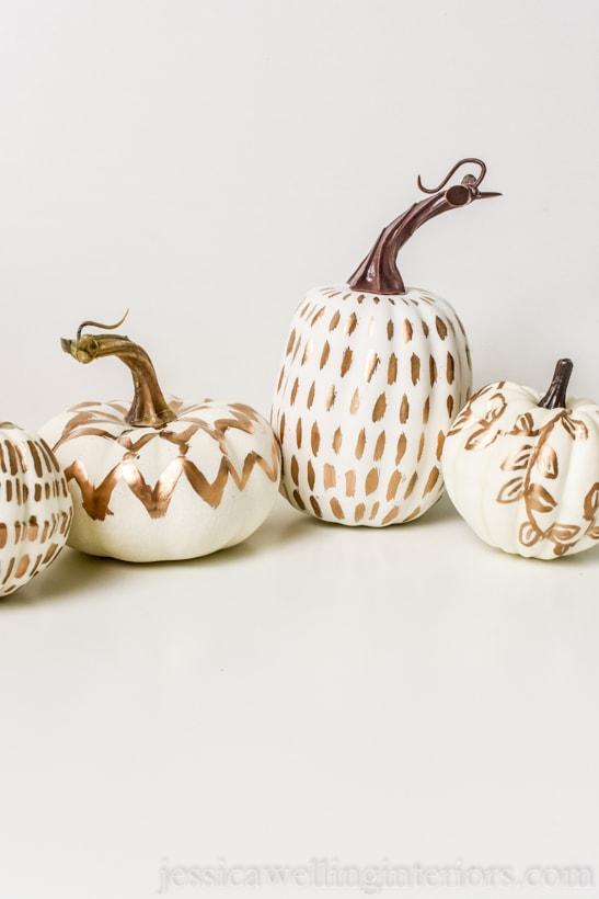 Modern Painted Pumpkins: DIY Fall Decor
