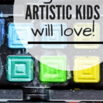 Gifts Artistic Kids Will Love: close up of watercolor set gift for kids
