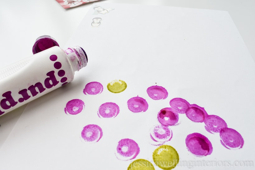white paper with purple dot art marker gift for kids