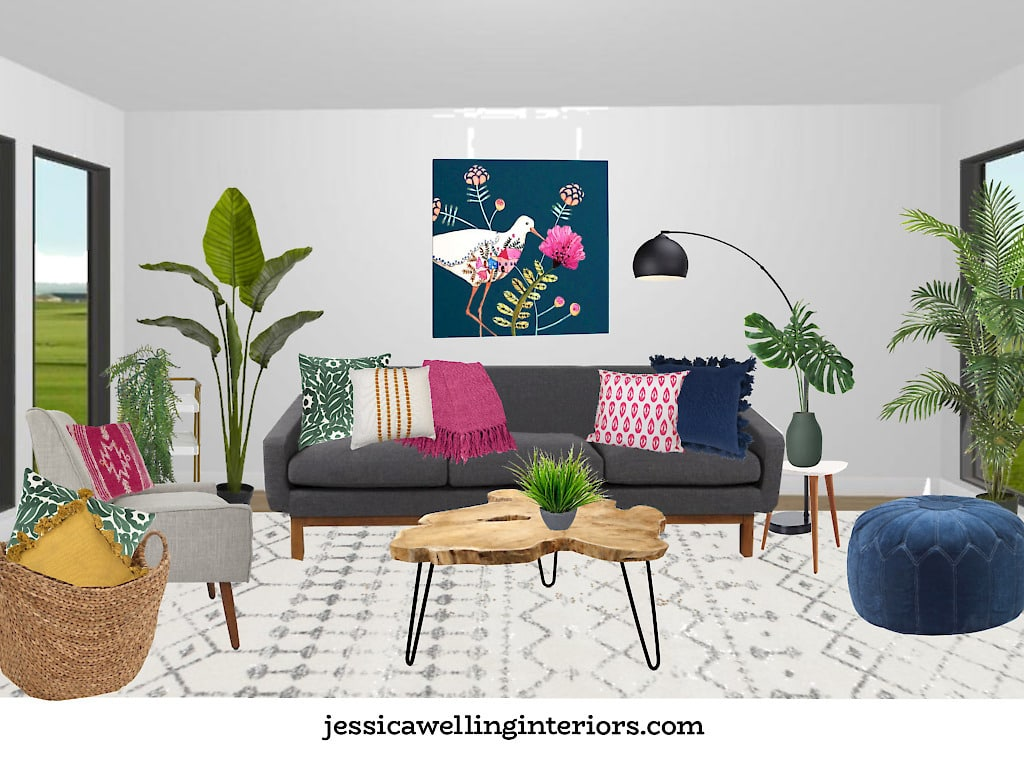 Modern Living Room Decor for Spring!