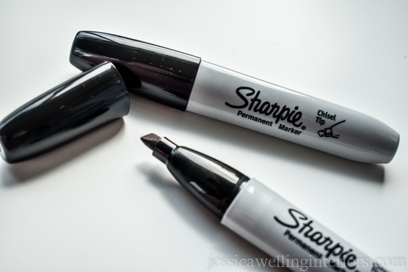 two chisel-tipped Sharpies for drawing on walls