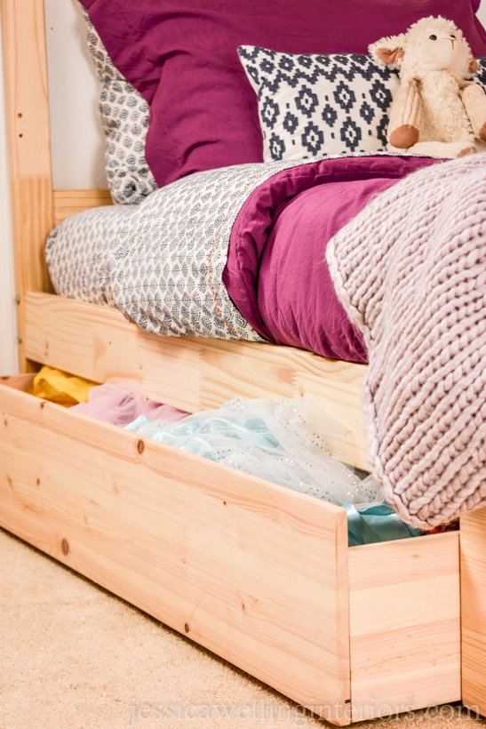 kids bunk bed with under bed storage drawers hack for kids bedroom