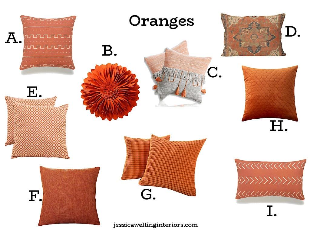 Rust Orange Pillows Online