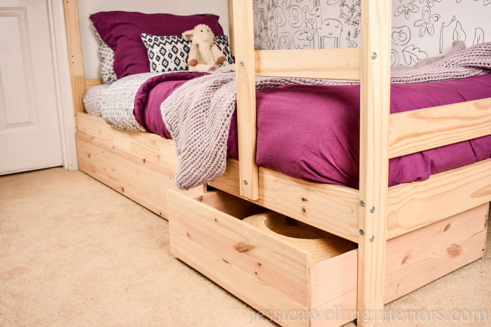 Under Bed Storage for Kids: A Simple IKEA Hack
