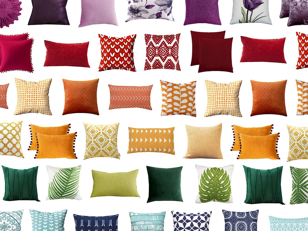 Modern & Cheap Throw Pillow Covers in Every Color!