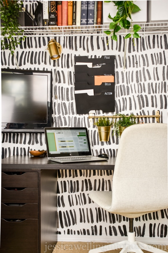 Ikea home office ideas packed into a closet office with Linnmon, Alex, Kvissle, and more.
