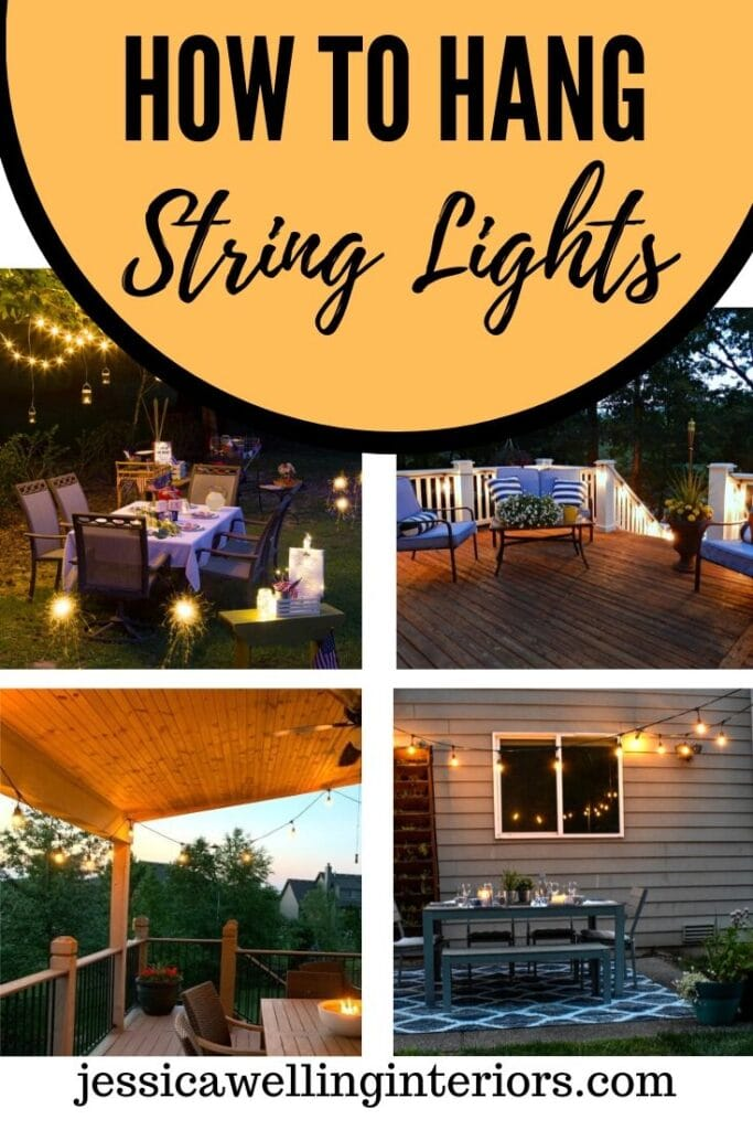 How To Hang String Lights 10 Diffe, How To Do String Lights On Patio