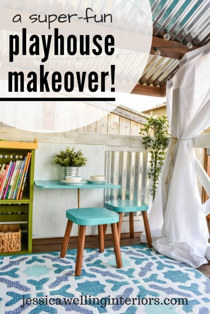 A Super-Fun Playhouse Makeover