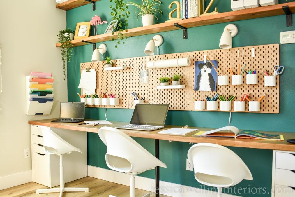Homeschool Room Desk Reveal!