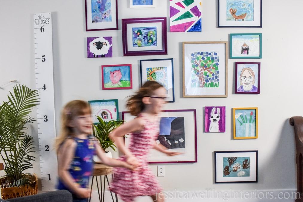 Kids' Art Display Wall