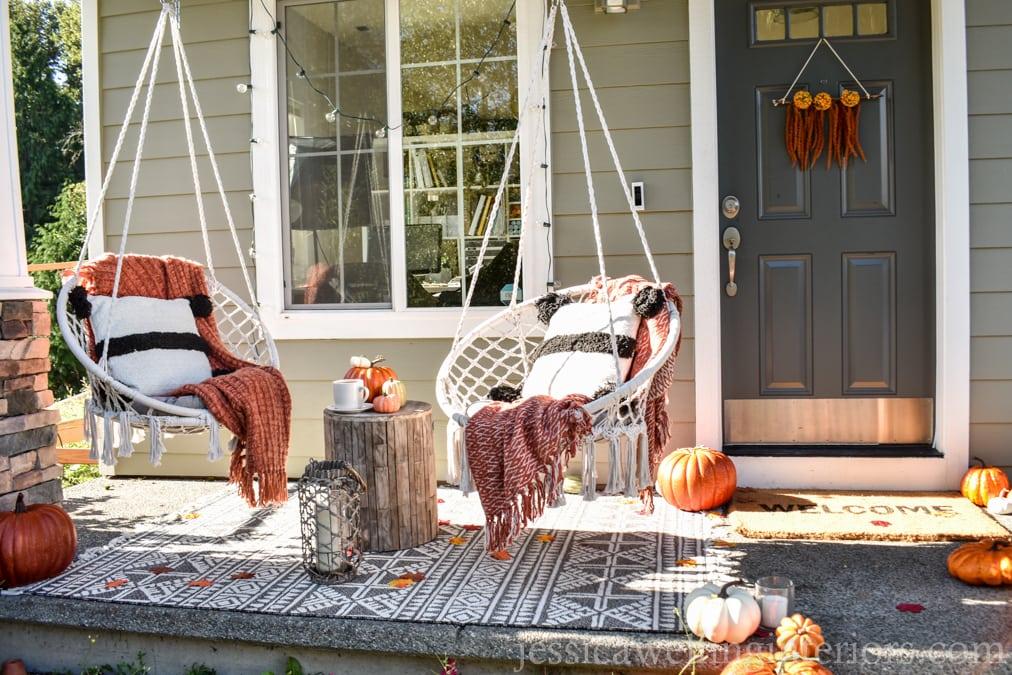 Front Porch Fall Decor, Boho Style!