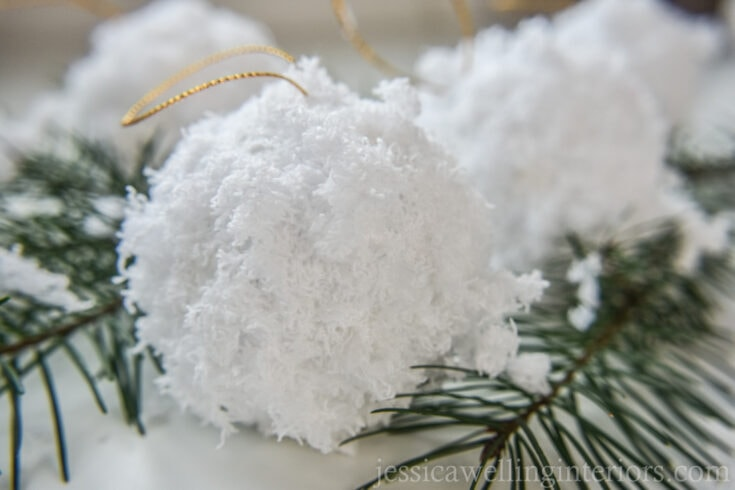 Easy Snowball Ornaments