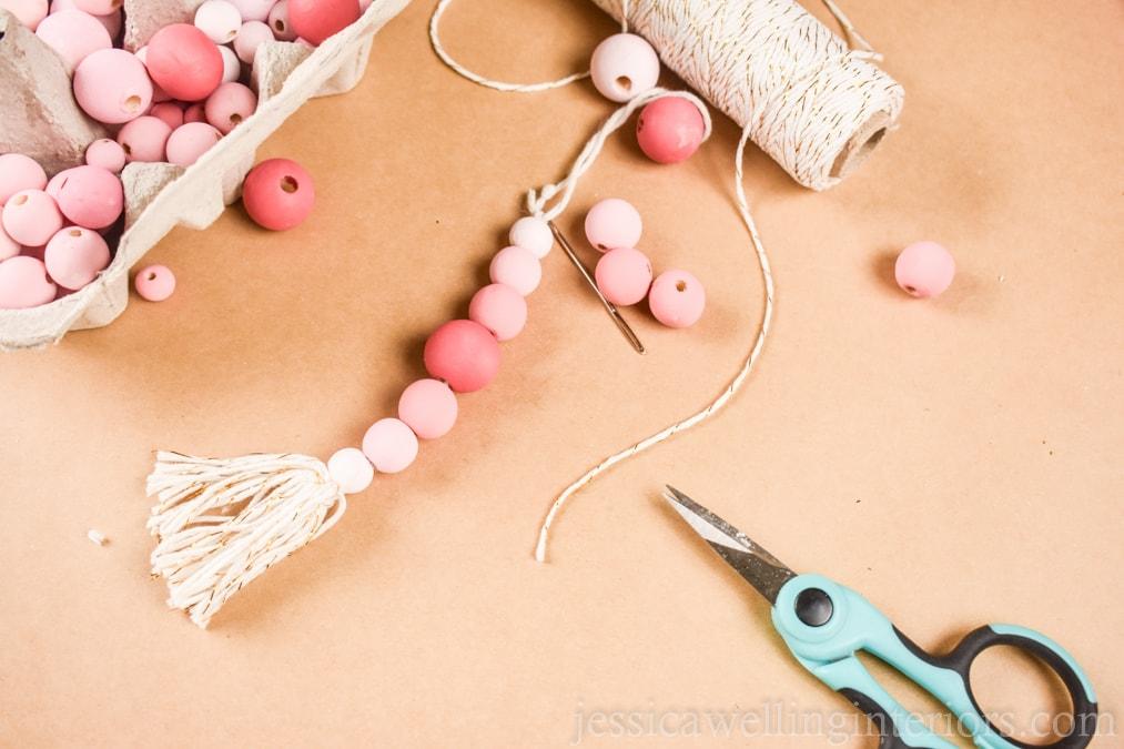 How to Make Wood Bead Christmas Ornaments