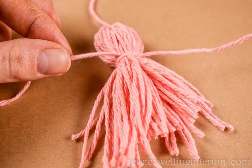 Boho Christmas Decor: How to Make a Tassel Garland With Yarn