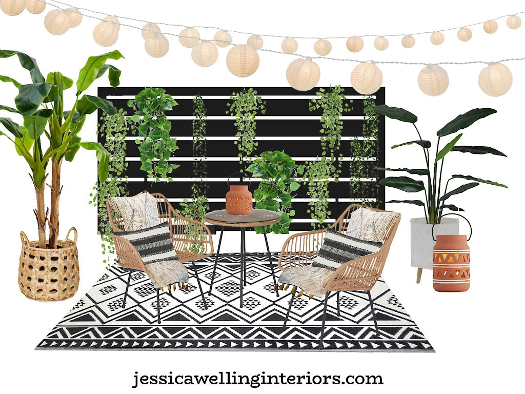 Everything You Need to Create a Small Patio Dining Space On A Budget!