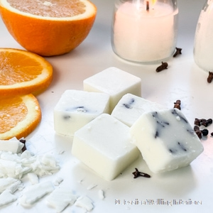 diy wax melts with orange and clove scent for Fall