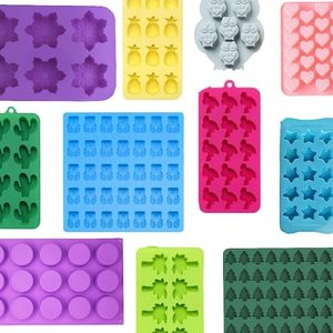 collage of silicone wax melt molds